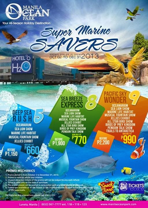 Ocean Park is having a Super Marine Savers promo on October 2, 2013