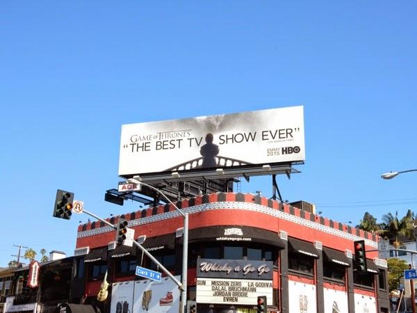 Game of Thrones Emmy 2015 billboard