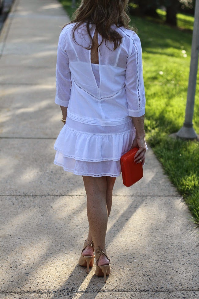 white dress asos