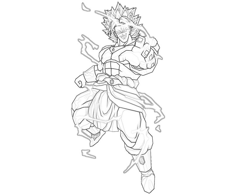 broly coloring pages - photo#3