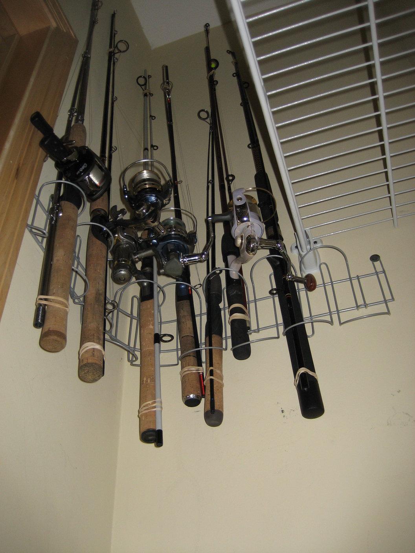 fishing rod rack 10 ikea hack signum cable management get home decorating. Black Bedroom Furniture Sets. Home Design Ideas
