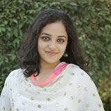 Nitya meenon Latest Photo Gallery in Salwar Kameez at New Movie Opening 8