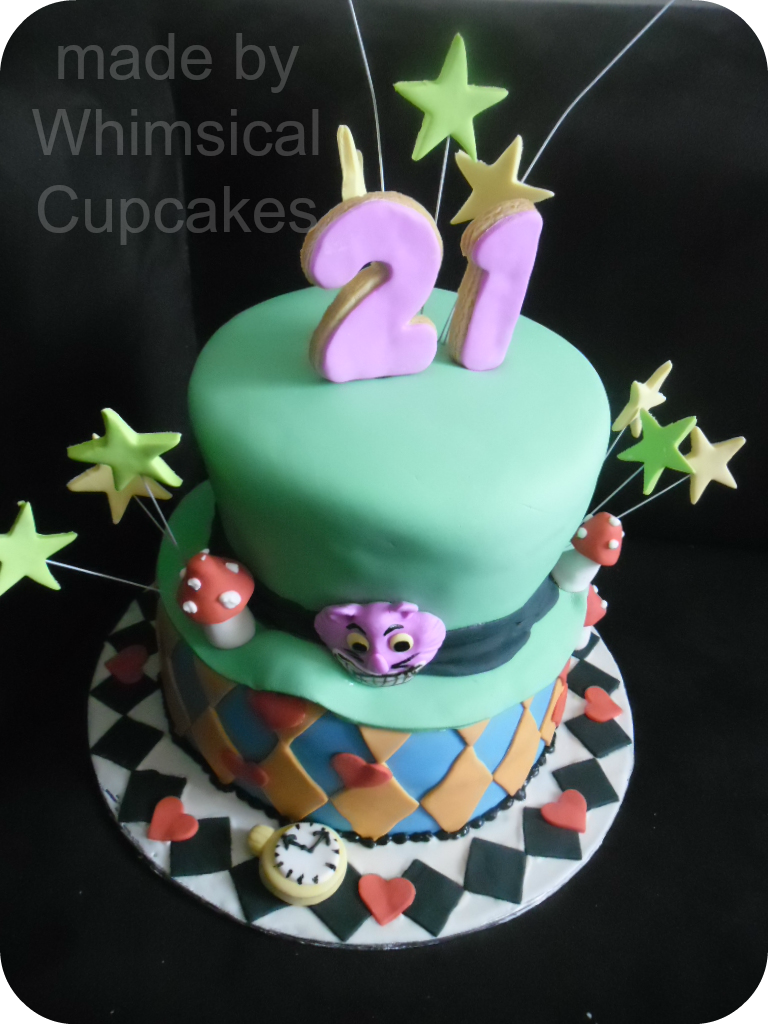 2 Tier Madhatters Cake