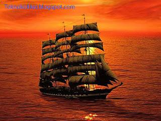 photoshop kırpma işlemi , crop tool kullanımı , gemi resmi , manzara resmi , denizde gün batımı resimi