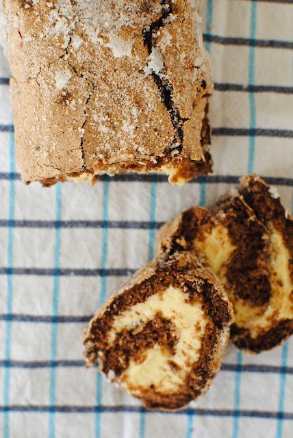 rulltårta, choklad, glutenfri, recept, smörkräm