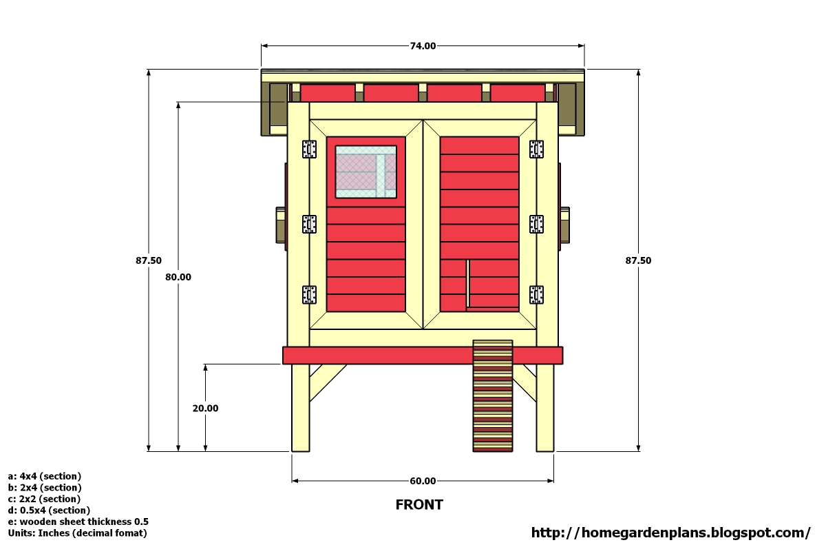Home garden plans m300 74 x135 x88 chicken coop for Free coop plans