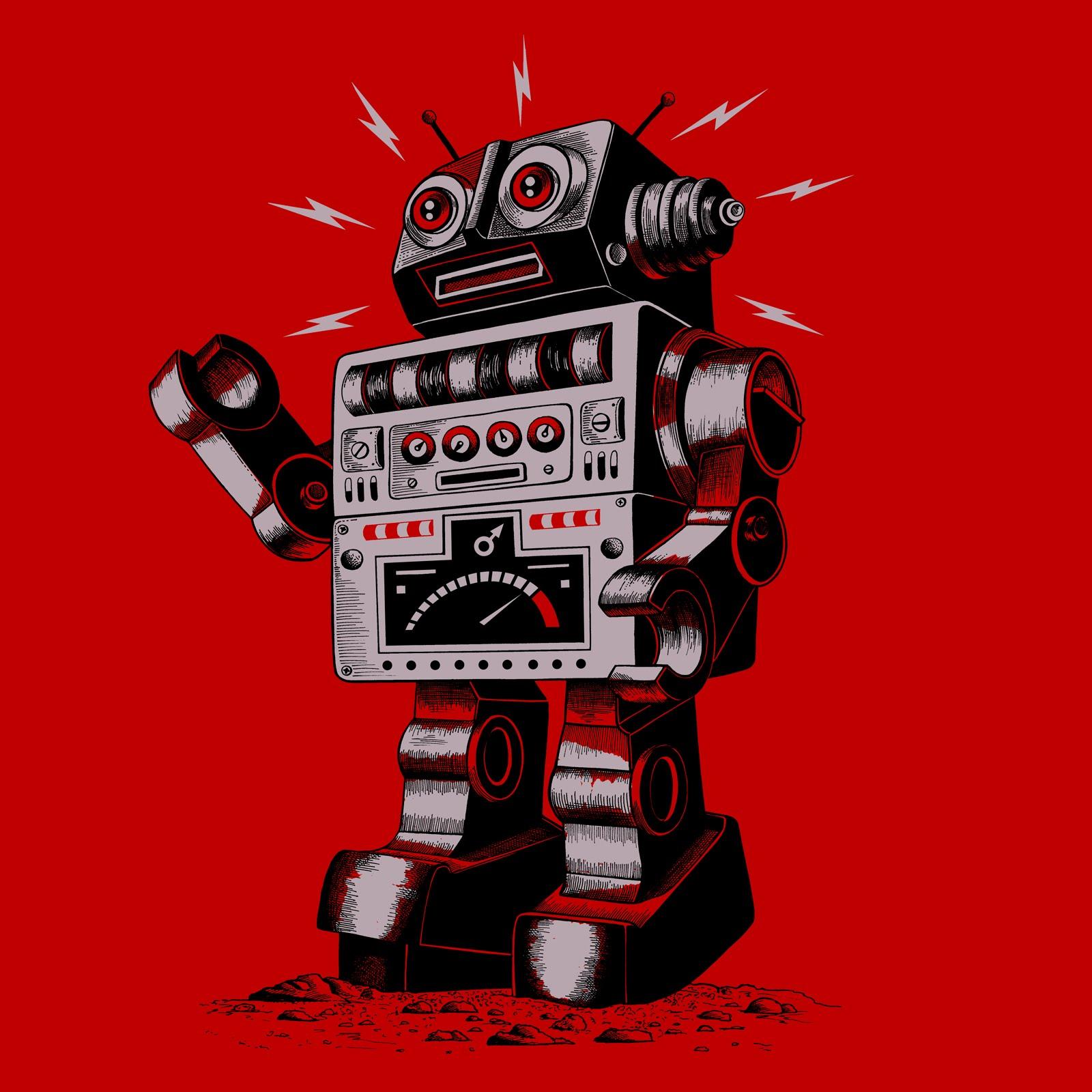 Vintage Robot Vintage Robot Drawing