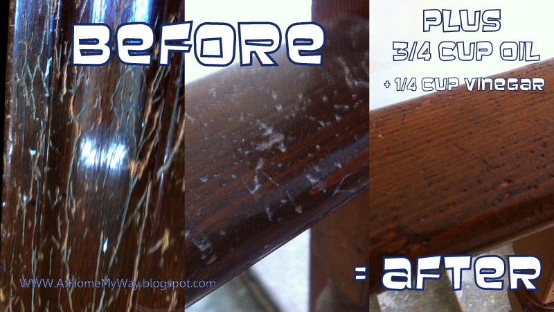at home my way: easy fix for wood scratches - homemade