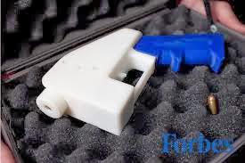 Assembled 3-D gun