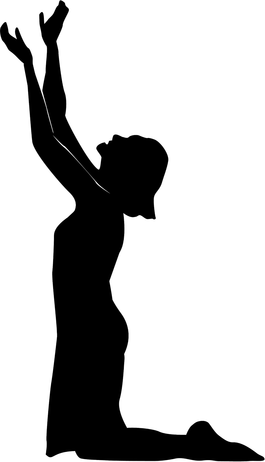 Woman Praying Clipart Praying Woman Silhouette Clip