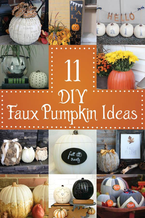 Fake Pumpkin Craft Ideas
