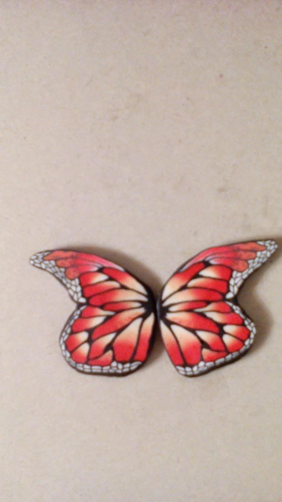 мастер класс- крыло бабочки , полимерная глина