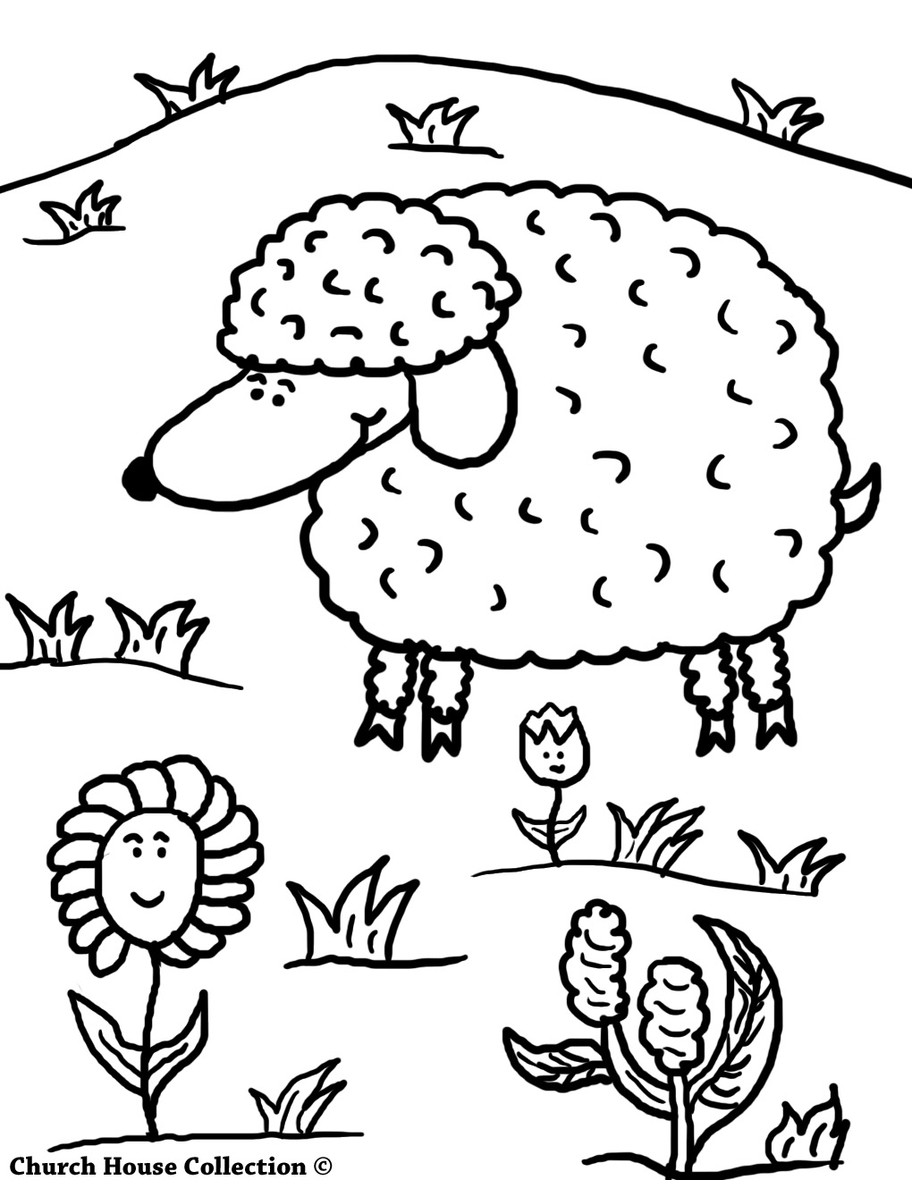 HWFD - Jesus and Sheep Coloring Page picture | HD Wallapapers Free ...