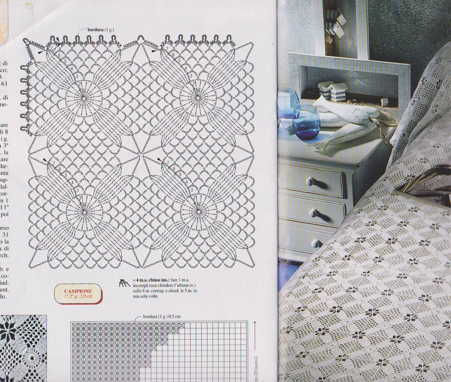 Схема вязания покрывало крючком фото