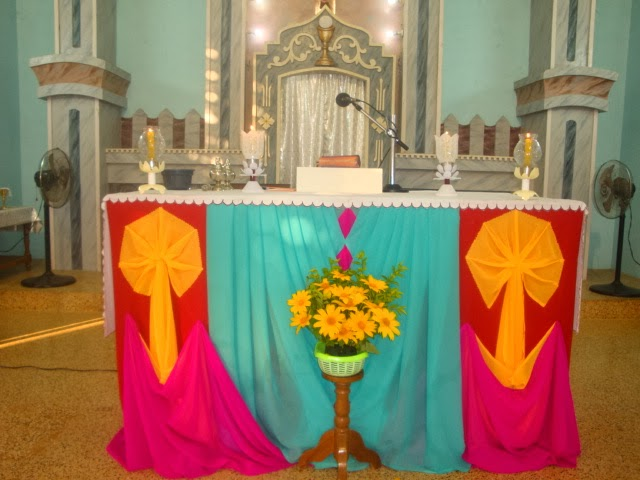 Murasancode parish murasancode altar decoration 12 01 14 for Altar decoration