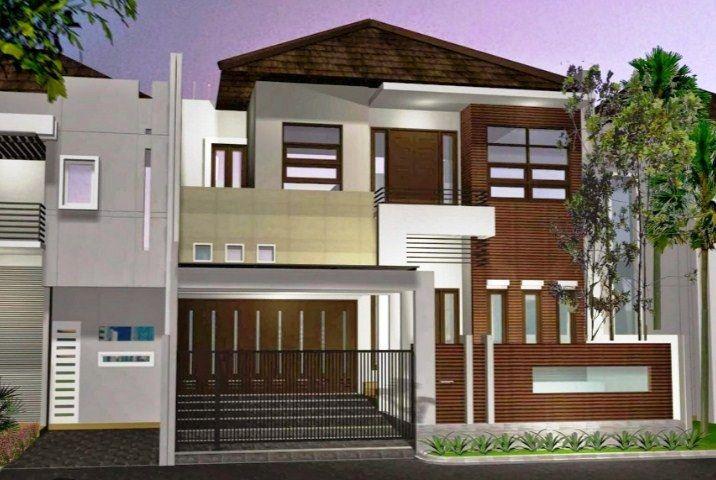 E    Model Desain Rumah Minimalis  Lantai Sederhana Modern Tampak Depan