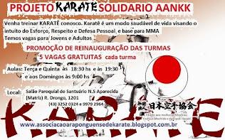 PROJETO KARATE SOLIDÁRIO JKA ASSOCIAÇÃO ARAPONGUENSE