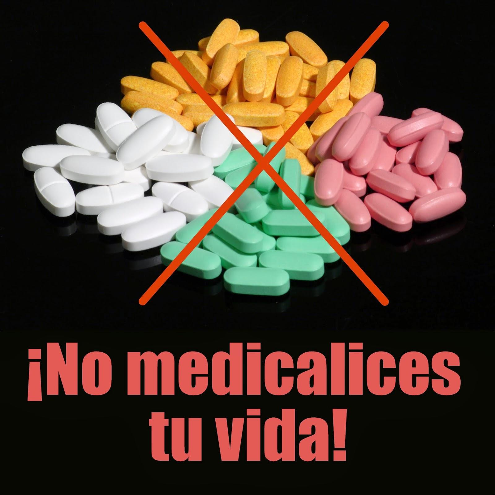 Pastillas de medicamentos tachadas con una equis