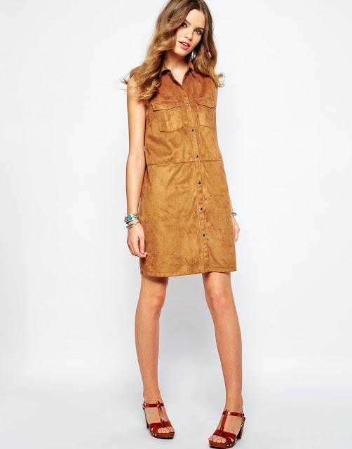 first suede dress, suede shirt dress,