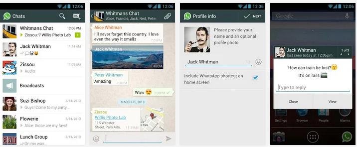 تحميل تطبيق واتس آب للأندرويد مجاناً أخر إصدار 2014 WhatsApp Messenger APK 2.11.152
