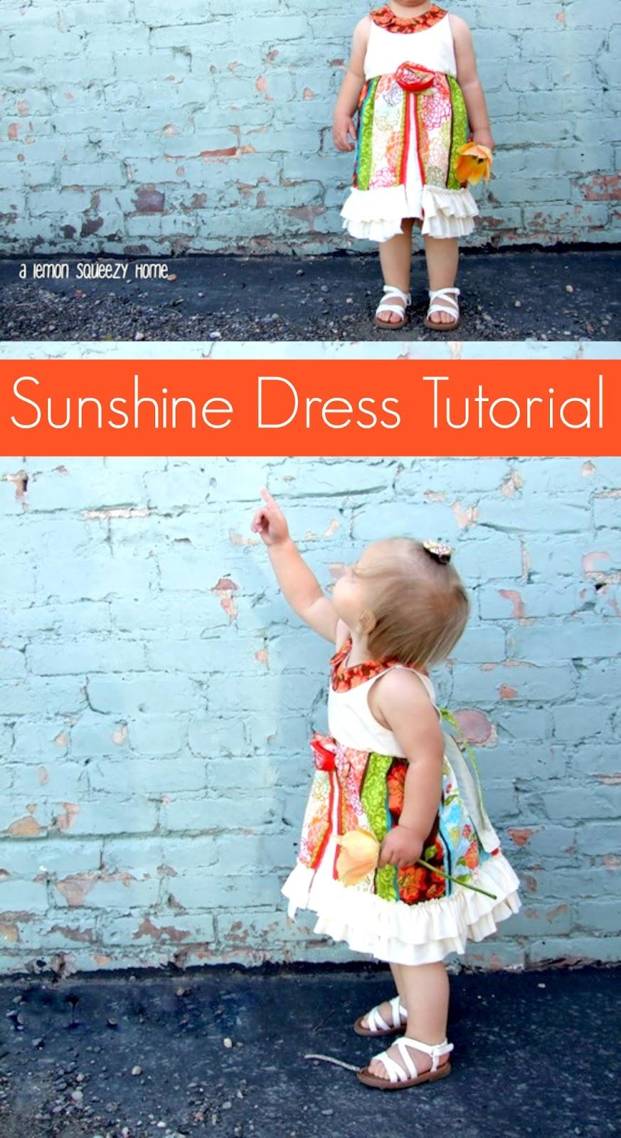 The Sunshine Dress Tutorial {lemon squeezy home}