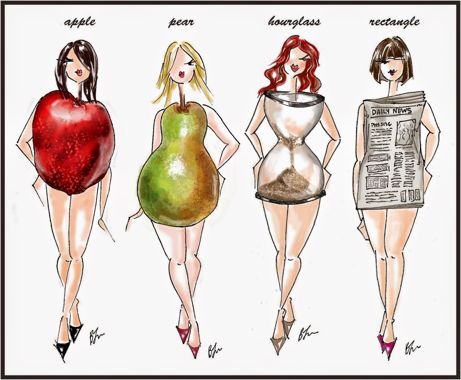 vücut şekline göre giyinme
