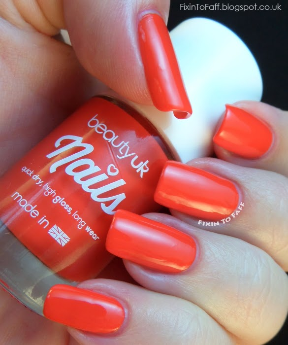BeautyUK Coral Burst Swatch