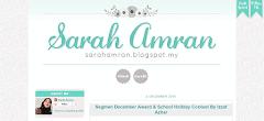 Tempahan Design Blog Sarah Amran