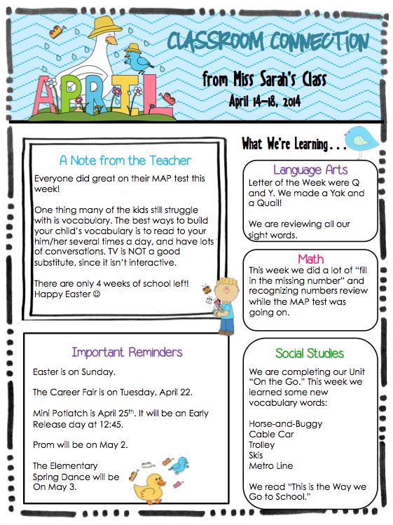 preschool april newsletter kindergarten april 18 newsletter 477