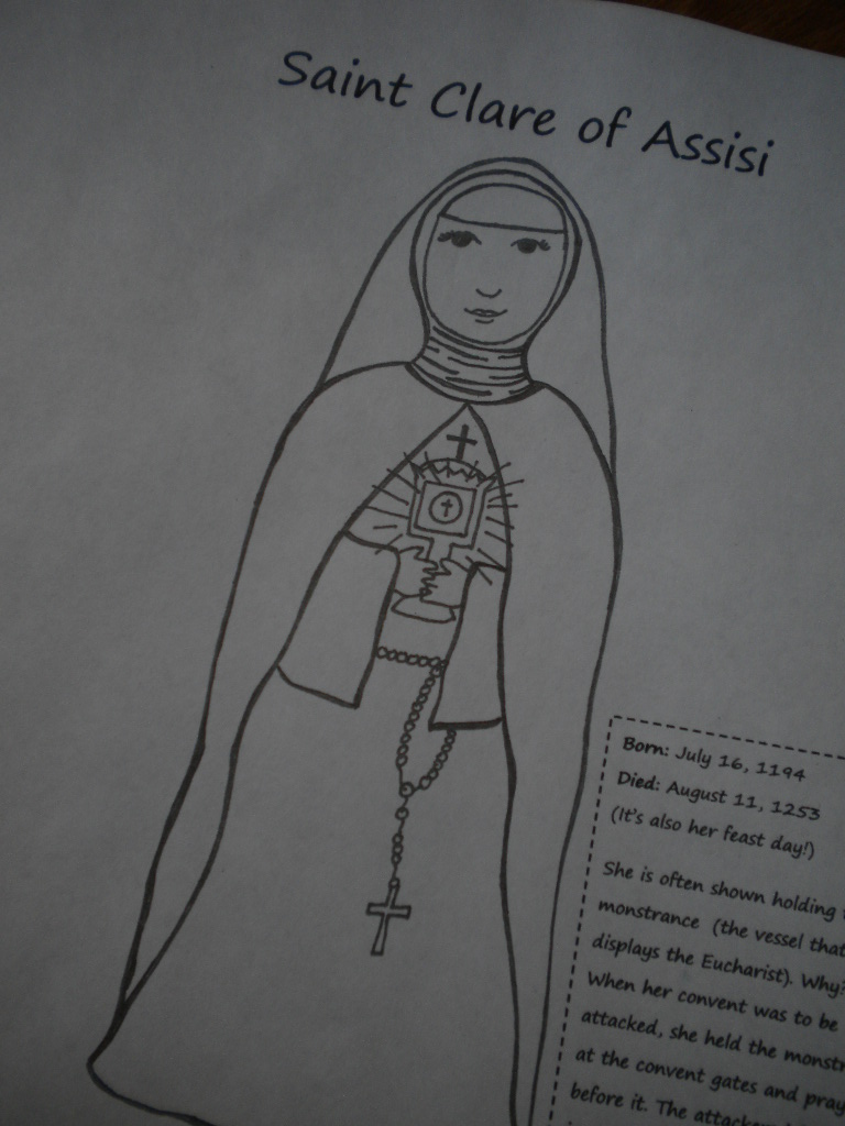 Familia Católica: Agosto: Páginas para Colorear de la principales ...