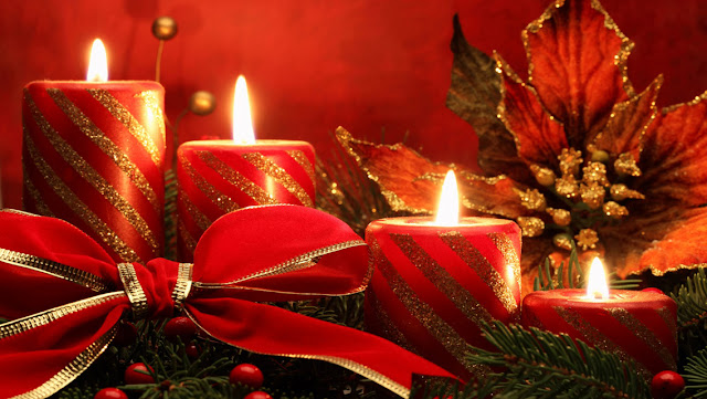 Free Download Christmas Candle lights HD Wallpapers for iPhone 5