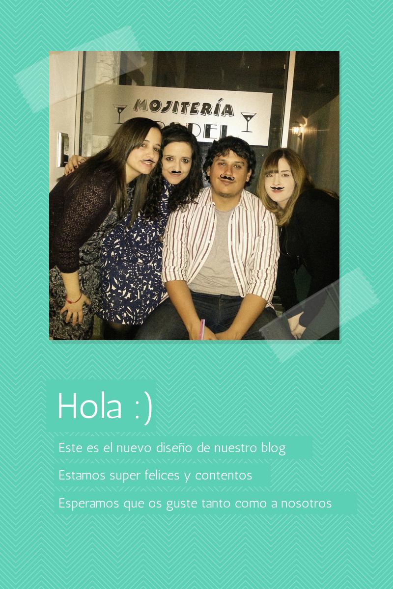 Hola! Las tr3s bloggeras y el Mister estamos mega felices con el nuevo diseño del blog 2014. Gracias a Celia de El Perro de Papel