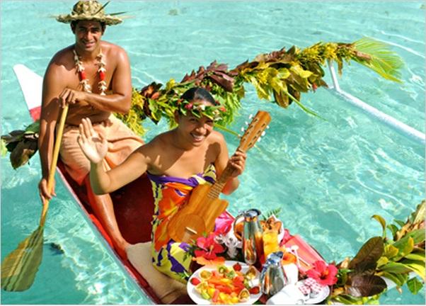 Room Service Extraordinaire at Le Taha'a Resort   Tahiti Vacation ...