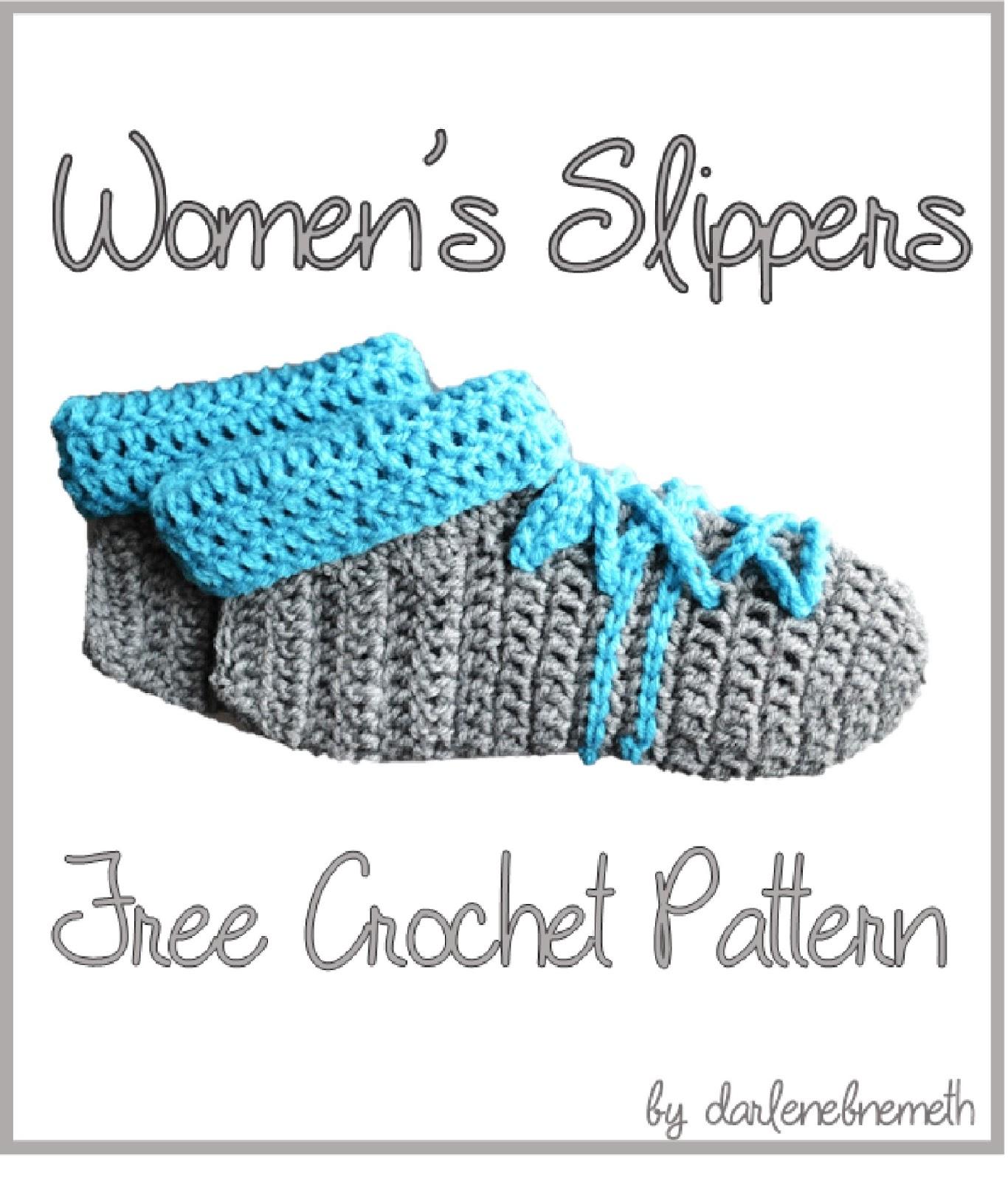 Let It Shine Womens Slippers Free Crochet Pattern