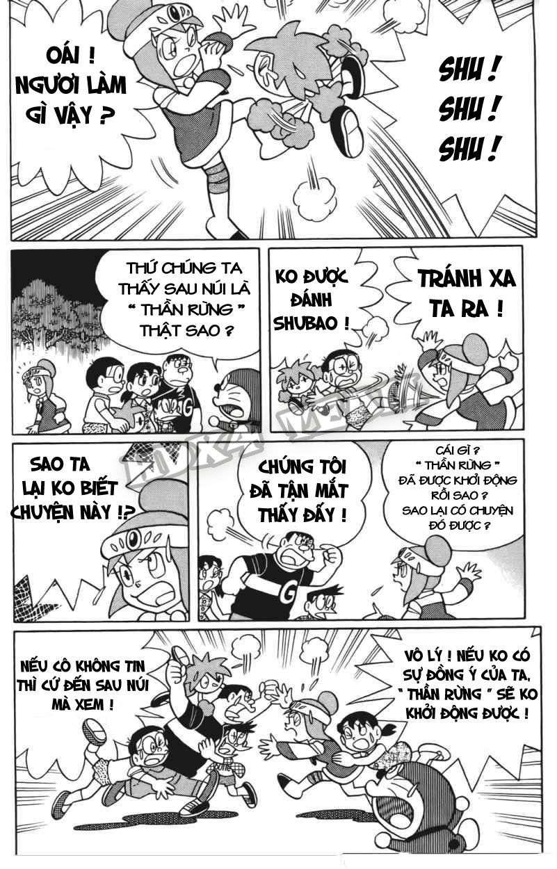 Truyện tranh Doraemon Dài Tập 25 - Nobita và truyền thuyết thần rừng trang 156