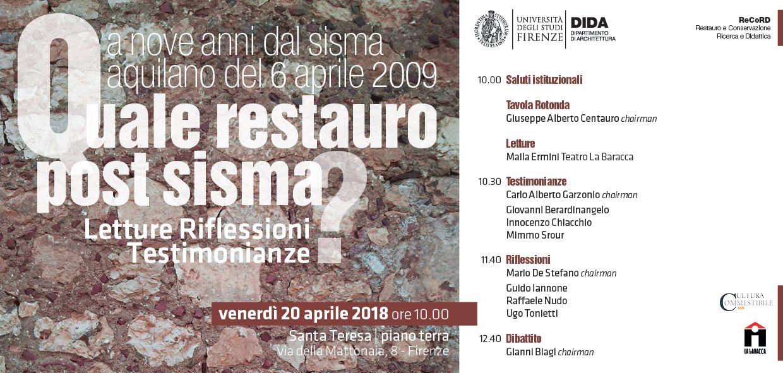 Convegno per la ricostruzione de L'Aquila