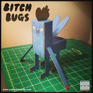 Bitch Bugs Papercraft