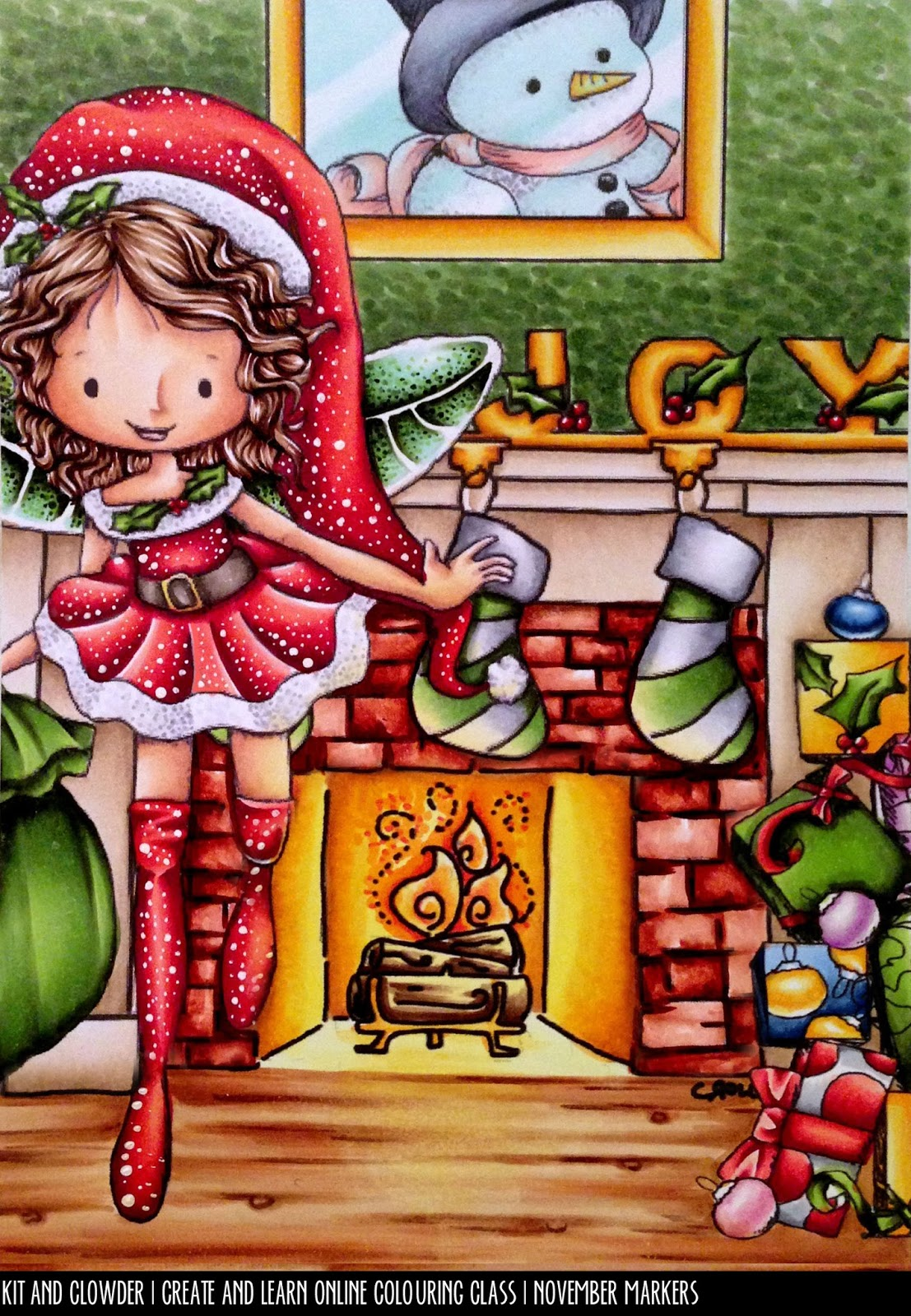 learn to colour christmas scenes kit and clowder online