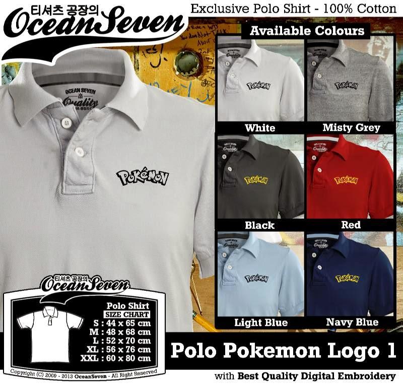 Kaos Polo Pokemon Logo 1