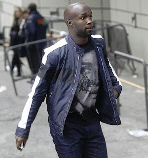 Lass Diarra at the airport entrance