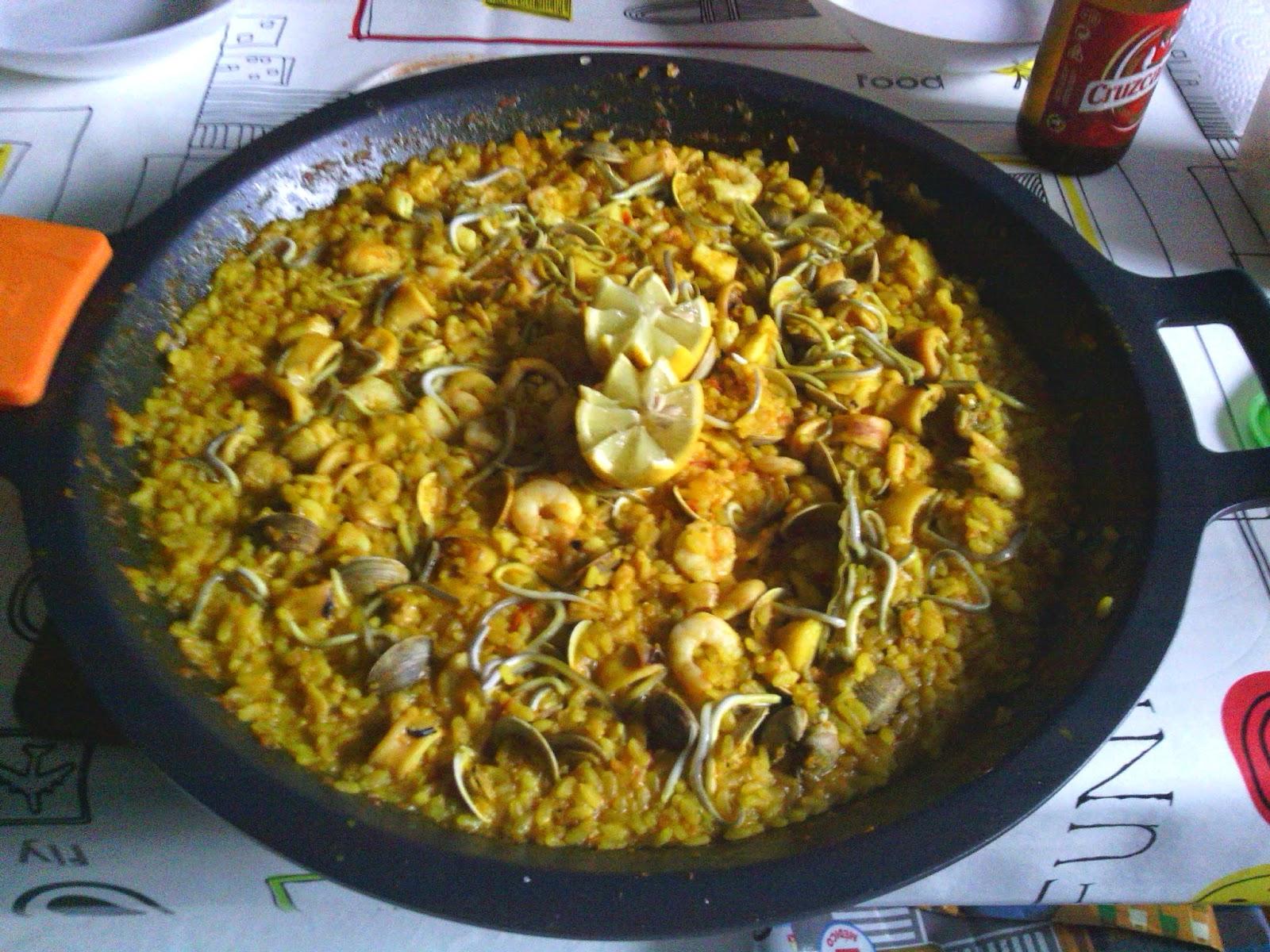 Recetas cuatro fogones paella de pescado y marisco - Paella de pescado ...
