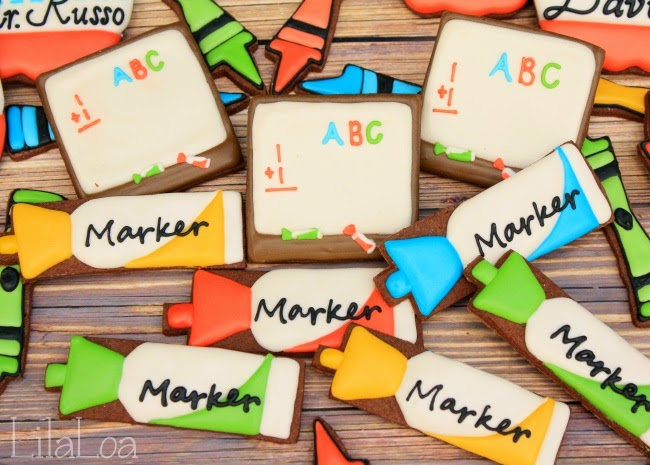 Decorated Whiteboard Marker Cookies
