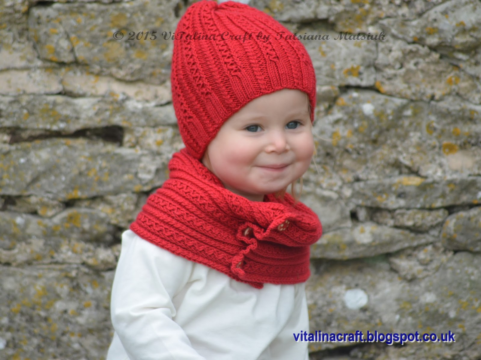 Knitting Pattern For Baby Hat And Scarf : Knitting Pattern - Tiny Cables Hat and Scarf Set (Baby, Child and Adult sizes...