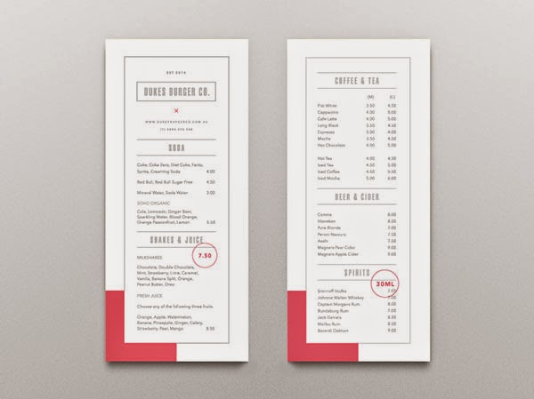 Well designed restaurant menus you ll definitely love