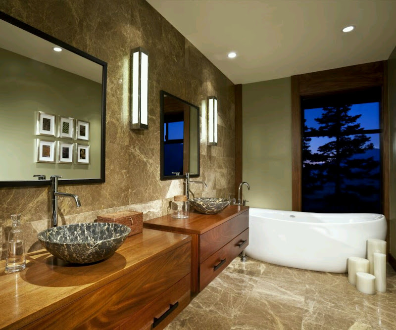 Modern bathrooms cabinets designs. title=
