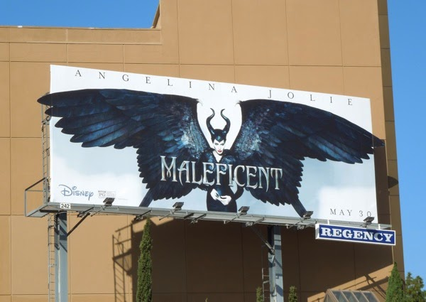 Angelina Jolie Maleficent movie billboard