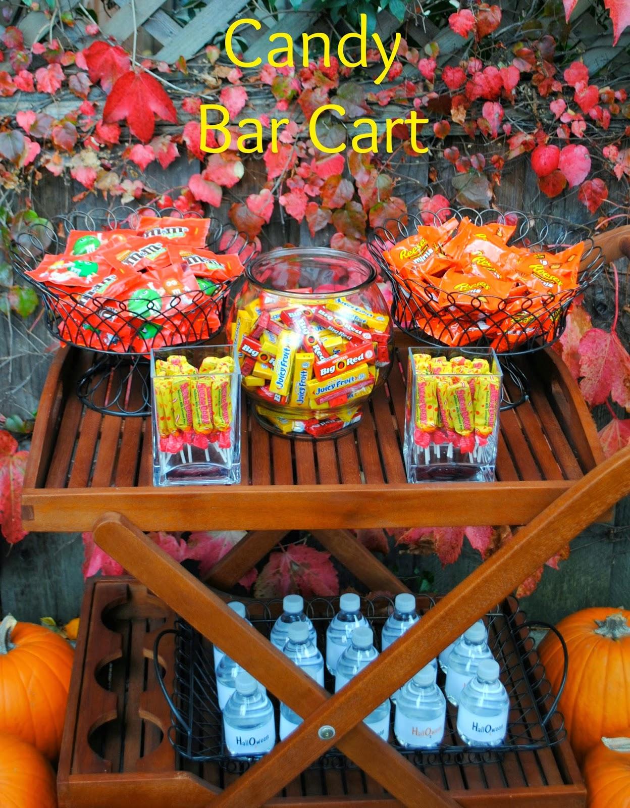 Halloween candy buffet idea - The Halloween Candy Bar Cart