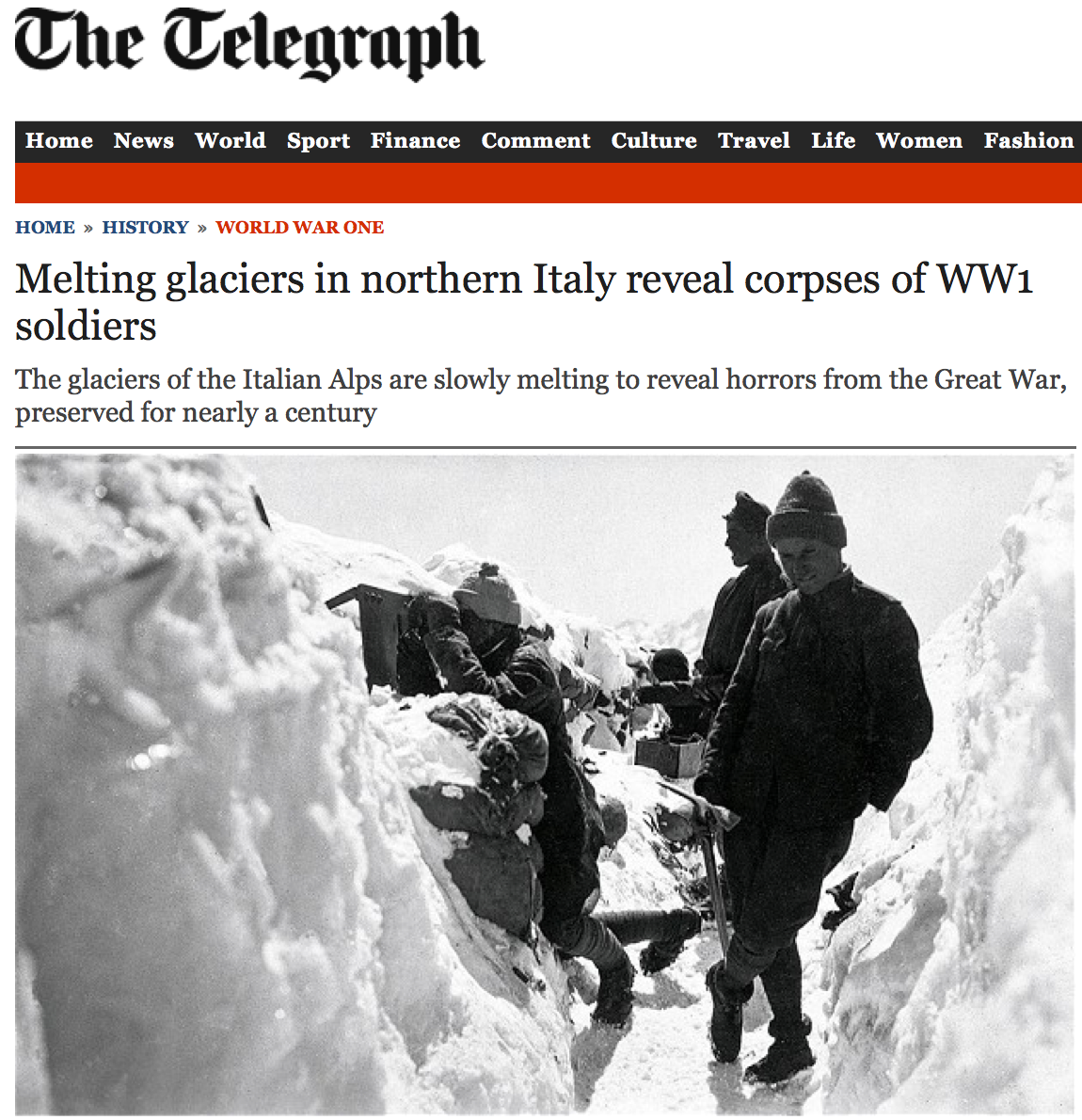 Olive Tree Genealogy Blog: Corpses of WW1 Soldiers Found as Glaciers Melt in Italy