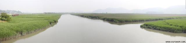 Panorámica del arroyo de la Bahía Suncheonman