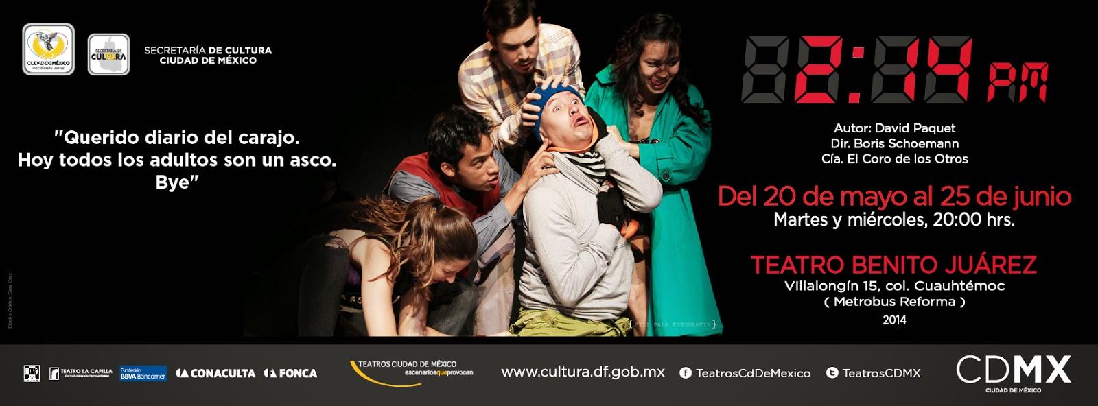 """Estreno de """"2:14 pm"""" en el Teatro Benito Juárez"""